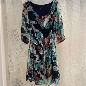 A. Byer Mid-Length Floral Dress